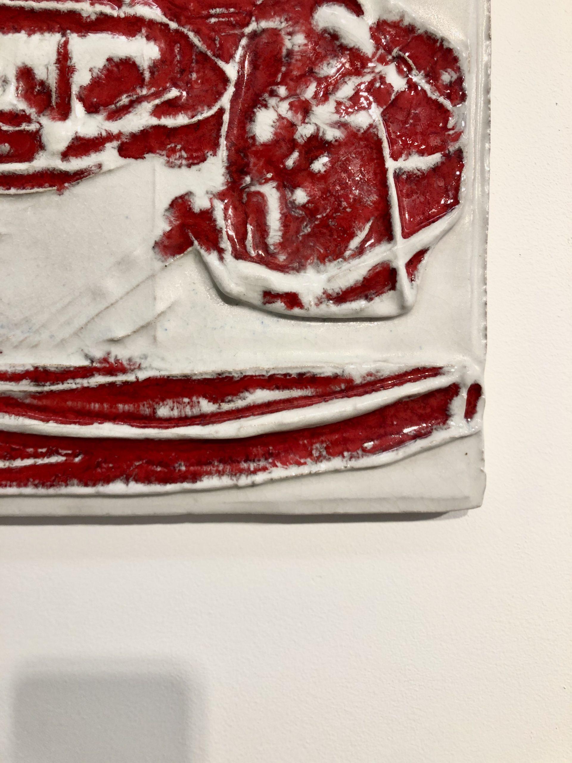 ZAULI-bas-relief-rouge-détail